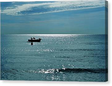 Turquois Water Canvas Print - Sea Of Love by Laura Fasulo