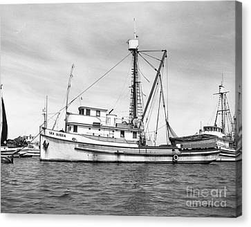 Purse Seiner Sea Queen Monterey Harbor California Fishing Boat Purse Seiner Canvas Print by California Views Mr Pat Hathaway Archives