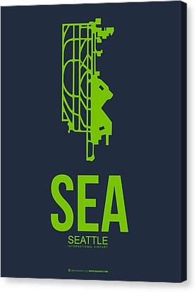Sea Seattle Airport Poster 2 Canvas Print by Naxart Studio