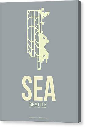 Sea Seattle Airport Poster 3 Canvas Print by Naxart Studio