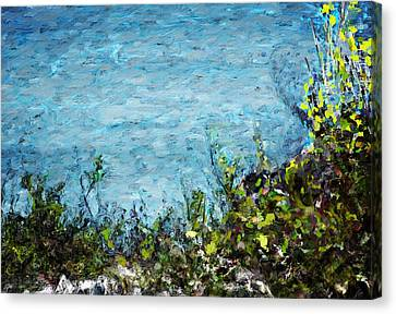 Canvas Print featuring the digital art Sea Shore 1 by David Lane