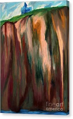 Sea Side Mountain Cliff Canvas Print