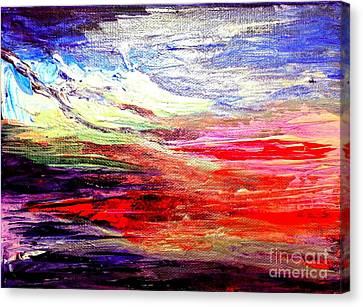 Sea Sky I Canvas Print by Karen  Ferrand Carroll