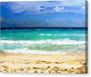 Sea Sky Sand Canvas Print by James Shepherd
