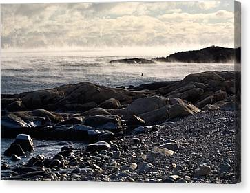 Sea-smoke At Schoodic Canvas Print by Brent L Ander