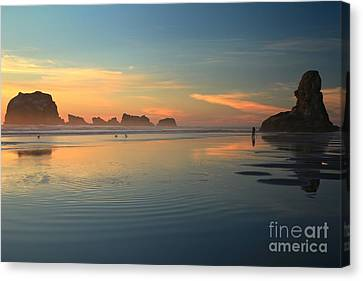 Sea Stack Photographer Canvas Print by Adam Jewell