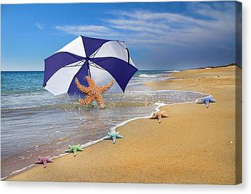 Sea Star Celebration  Canvas Print by Betsy Knapp