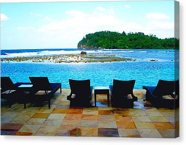Sea Star Villa Canvas Print by Carey Chen