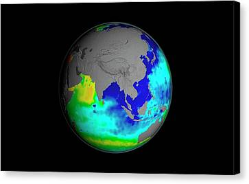 Sea Surface Salinity Canvas Print by Nasa/goddard Space Flight Center Scientific Visualization Studio
