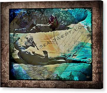 Love Making Canvas Print - Sea Swept Love by Absinthe Art By Michelle LeAnn Scott