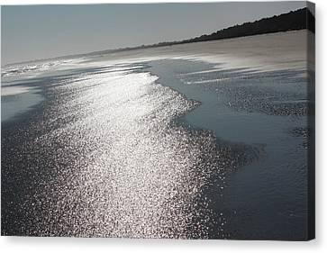 Sea To Shining Shore Canvas Print by Rosanne Jordan