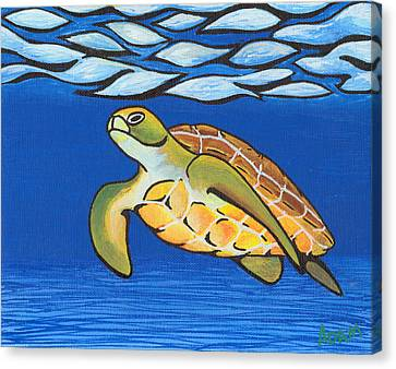 Sea Turtle Canvas Print by Adam Johnson