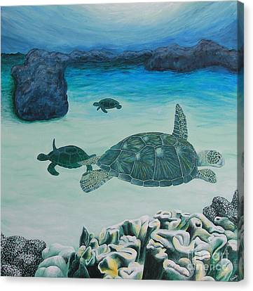 Sea Turtles Canvas Print by Krista Kulas