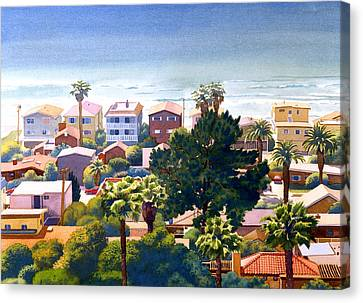 West Coast Canvas Print - Sea View Del Mar by Mary Helmreich