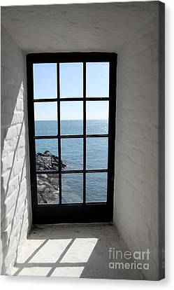 Sea View From Lighthouse Window Canvas Print by Christiane Schulze Art And Photography