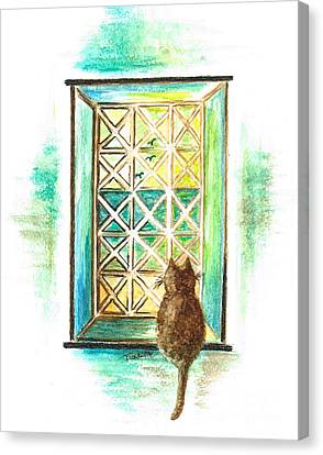 Curiosity - Cat Canvas Print