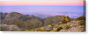 Sea Viewed From A Mountain Top At Dusk Canvas Print by Panoramic Images
