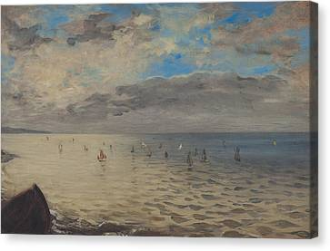 Sea Viewed From The Heights Of Dieppe Canvas Print