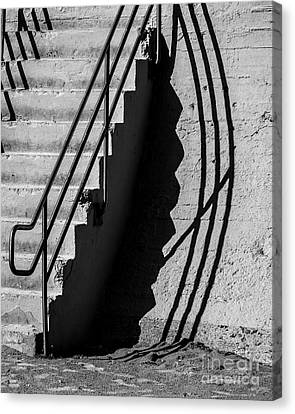 Sea Wall Shadow Canvas Print by Perry Webster