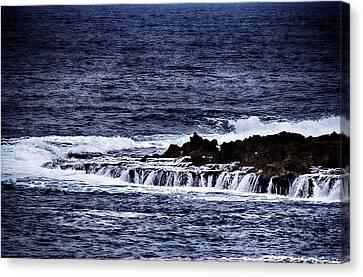 Sea Waterfall Canvas Print by Douglas Barnard