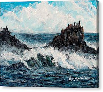 Canvas Print featuring the painting Sea Whisper by Shana Rowe Jackson