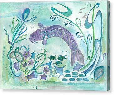 Sea World -painting Canvas Print