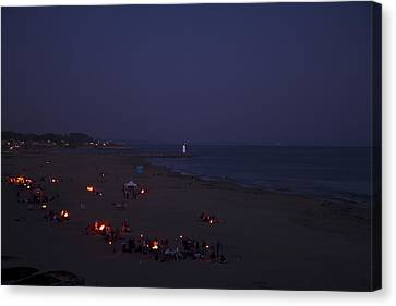 Seabright At Dusk Canvas Print by Tom Kelly
