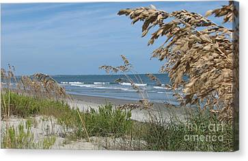 Canvas Print featuring the photograph Seabrook Sc Beach by Val Miller