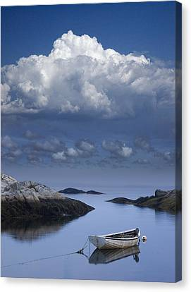 Row Boat Canvas Print - Seafarer's Vision by Randall Nyhof