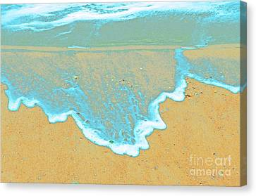 Seafoam Abstract Canvas Print by Cindy Lee Longhini