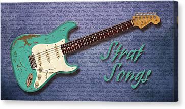 Seafoam Strat Songs  Canvas Print