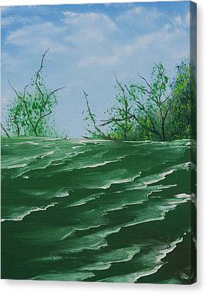 Seafoam Surf Canvas Print