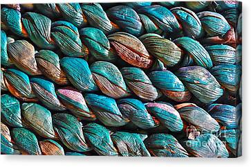 Canvas Print featuring the photograph Seagrass Blue by Linda Bianic