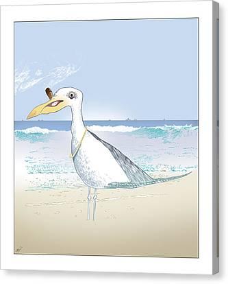 Seagull Cigar Canvas Print