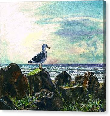 Seagull Lookout Canvas Print