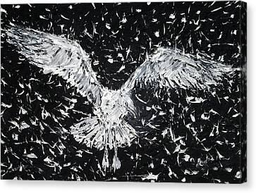 Seagull - Oil Portrait Canvas Print by Fabrizio Cassetta
