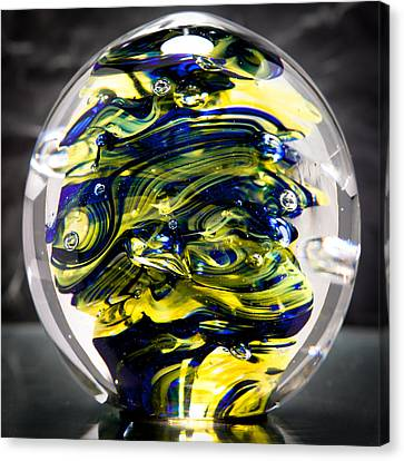Seahawks Glass -  Solid Glass Sculpture  Canvas Print by David Patterson