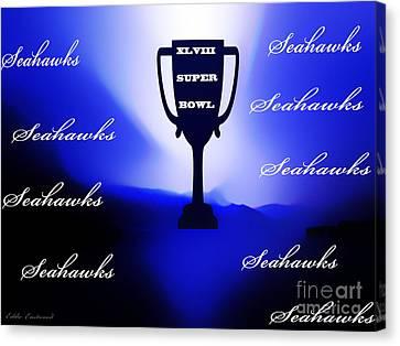 Seahawks Super Bowl Champions Canvas Print by Eddie Eastwood