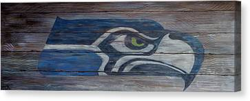 One Of A Kind Canvas Print - Seahawks by Xochi Hughes Madera