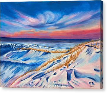 Seahore In Winter Canvas Print