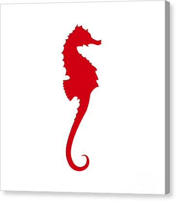 Seahorse In Red Canvas Print