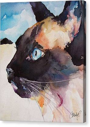 Seal Point Siamese Cat Canvas Print by Christy  Freeman