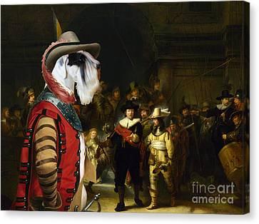 Sealyham Terrier Art - The Company Of Captain Canvas Print by Sandra Sij
