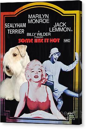 Sealyham Terrier Art Canvas Print - Some Like It Hot Movie Poster Canvas Print by Sandra Sij