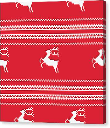 Seamless Christmas Pattern Canvas Print by Mike Taylor