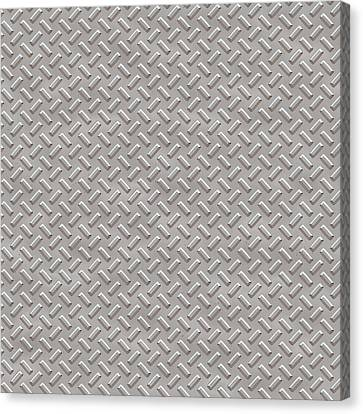 Metallic Sheets Canvas Print - Seamless Metal Texture Rhombus Shapes 1 by REDlightIMAGE