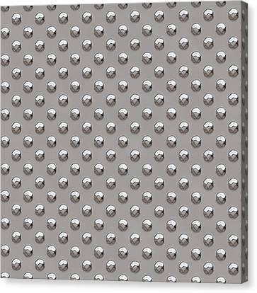 Seamless Metal Texture Rhombus Shapes 2 Canvas Print