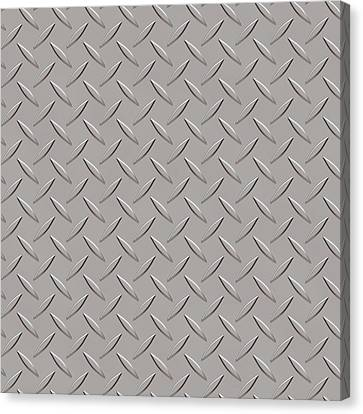 Metallic Sheets Canvas Print - Seamless Metal Texture Rhombus Shapes 3 by REDlightIMAGE