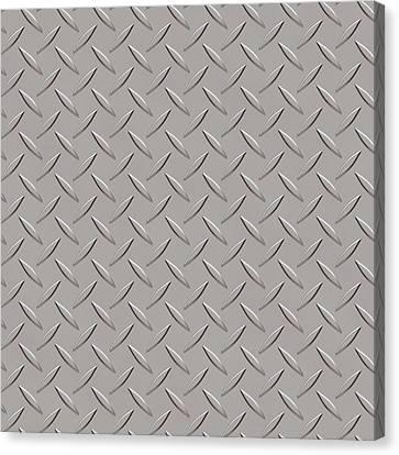 Seamless Metal Texture Rhombus Shapes 3 Canvas Print