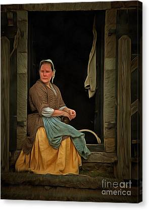 Seamstress Canvas Print